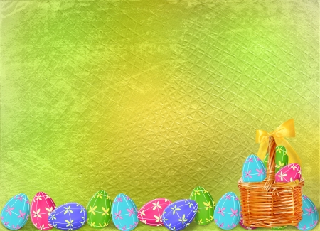 multicolored eggs to celebrate Easter photo