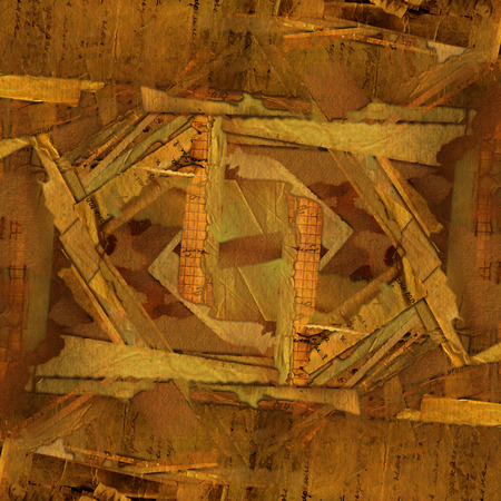 abstract grunge with old archive, letters and photos Stock Photo