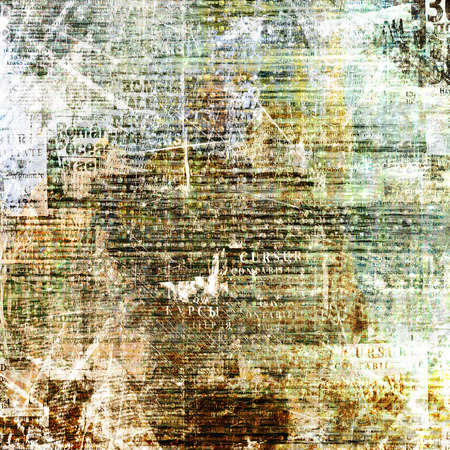 press news: Grunge abstract newspaper background for design with old torn posters