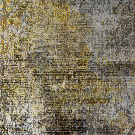 frayed: Abstract ancient background in scrapbooking style with gold ornamental