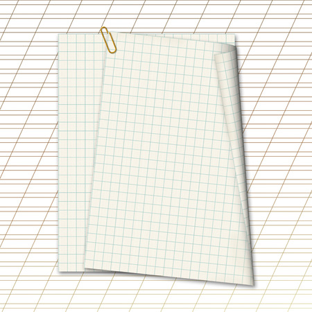 Sheets school notebook paper on the abstract background