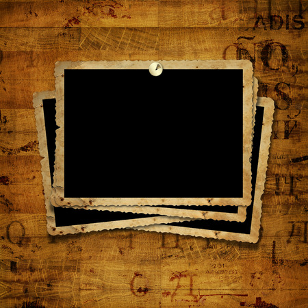 Old Grunge Paper Frames On The Ancient Background Stock Photo ...