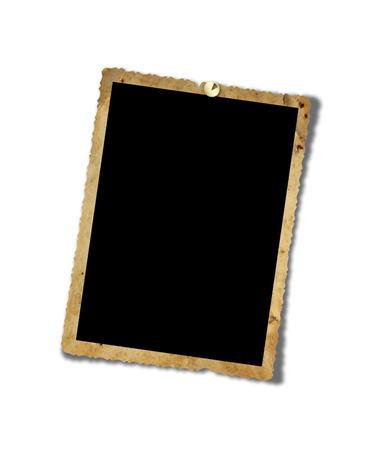 Old grunge paper frames on the  isolated white background photo