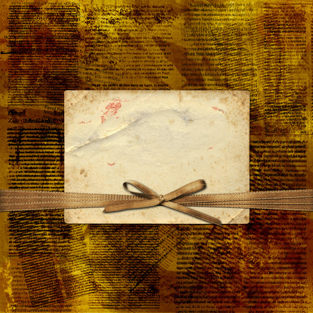 newsprint: Grunge abstract newspaper background for design with old torn posters