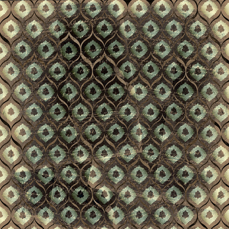 ornamente: Grunge brown background with ancient ornament