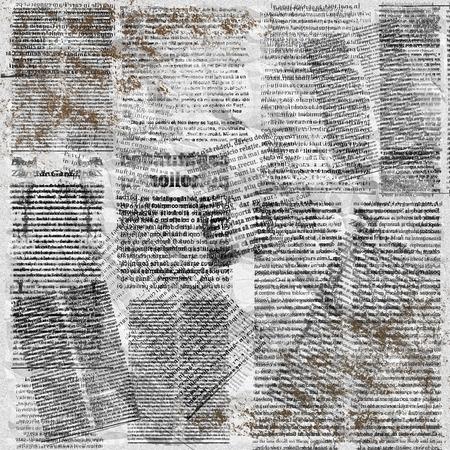 oude krant: Grunge abstracte krant achtergrond voor ontwerp met oude gescheurde posters Stockfoto