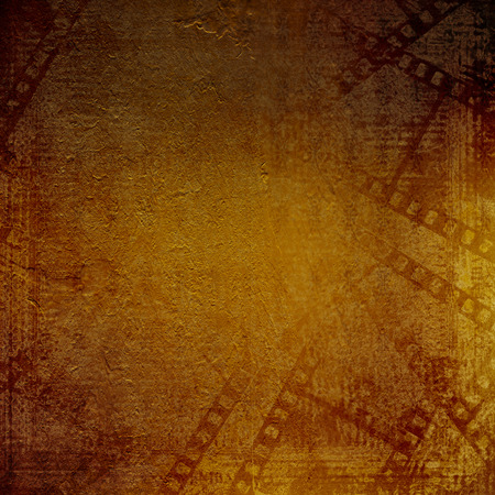 alienated: Old papers and grunge filmstrip on the alienated background  Stock Photo