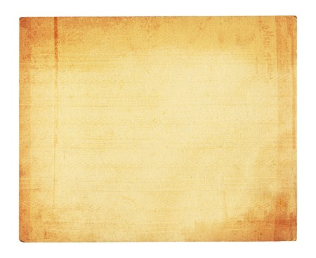Old embossed cardboard frame isolated on white background photo