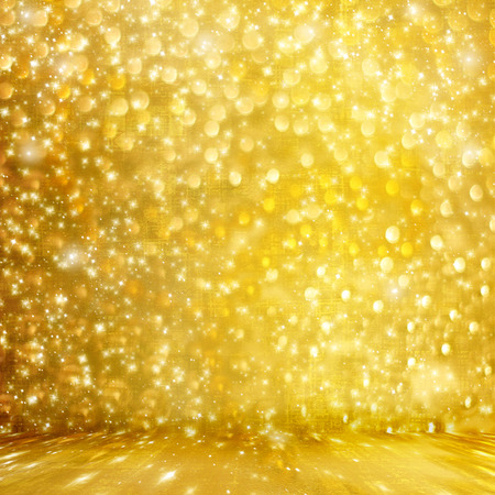 carnival background: Abstract golden background with effect bokeh for design