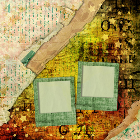 alienated: Abstract beautiful background in the style of mixed media with alienated paper Stock Photo
