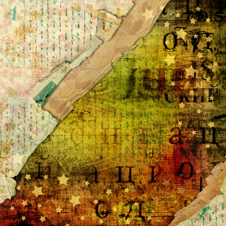 alienated: Abstract beautiful in the style of mixed media with alienated paper