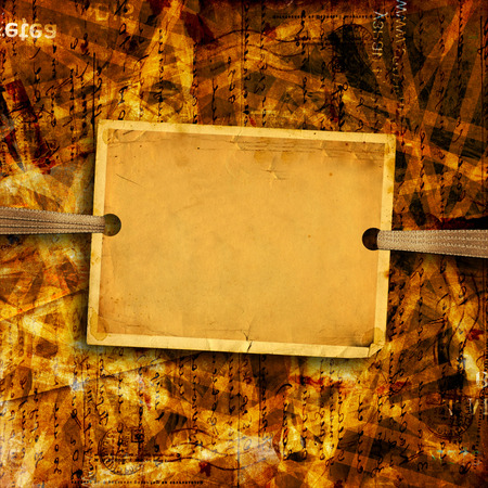Old sheet of paper for ads and advertising on abstract background photo