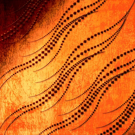 Old grunge background with abstract swirls ornament Stock Photo