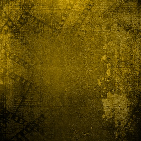 alienated: Old papers and grunge filmstrip on the alienated background
