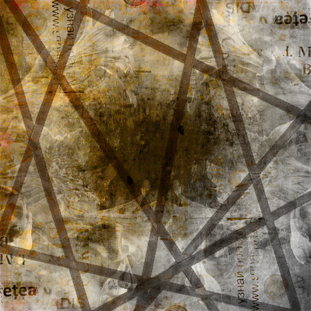 alienated: Grunge abstract background with old torn posters with blur text