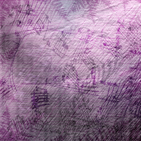 mixed media: Abstract beautiful background in the style of mixed media with floral ornament, words and figures