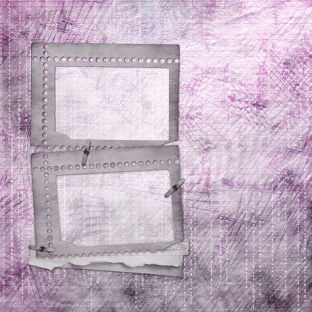 Abstract beautiful background in the style of mixed media with floral ornament words and figures photo
