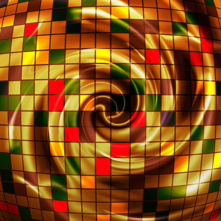mixed media: Abstract creative gold background in the style of mixed media
