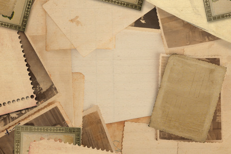 old letters: Old vintage archive with photos and letters