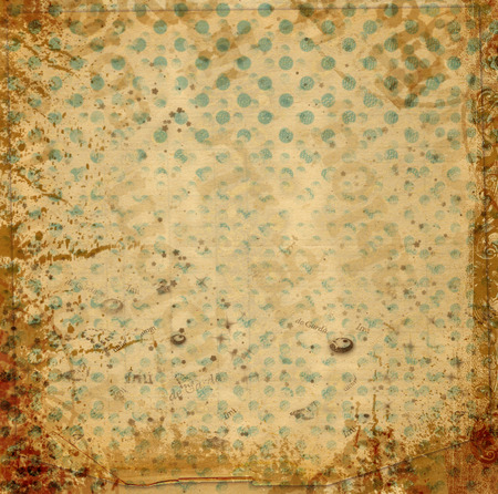 wallpape: Old vintage paper background with  abstract pattern of circles and spots