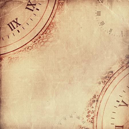 Alte zerknittertes Papier zerrissen. Vintage Hintergrund für Design Standard-Bild - 61654295