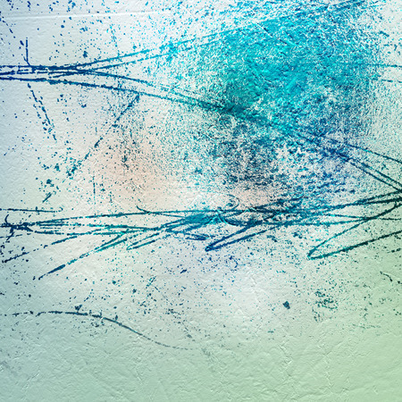 Cement wall with large scratches on the plaster. Abstract background for design