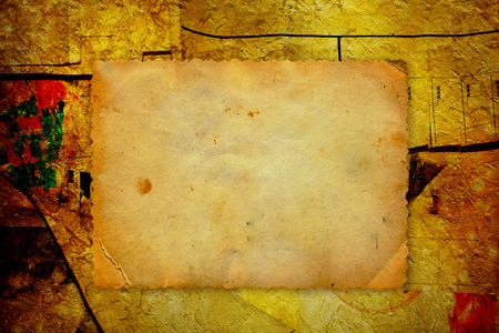 Grunge frame for photo or message on  bulletin board Stock Photo