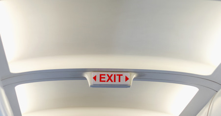 Emergency Exit wording sign sticker is use for tell customer mostly on door in aircraft building