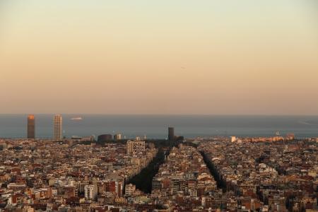 barcelone: Vue de Barcelone Banque d'images