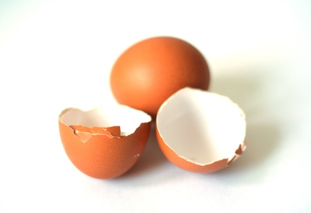 Eggs On White Background photo
