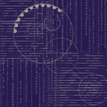 matrix: matrix pattern Stock Photo