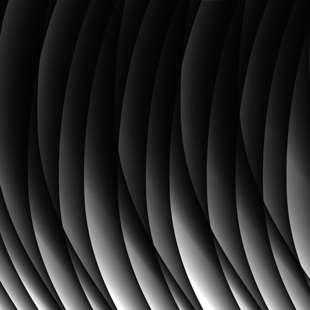 curving lines: Abstract black waves