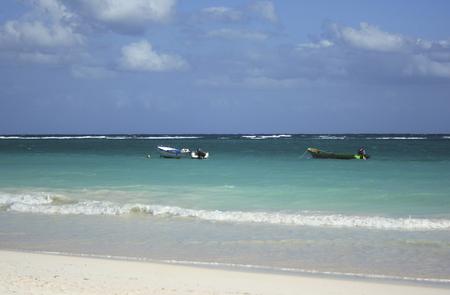 carribean: Boats on a Carribean sea Stock Photo