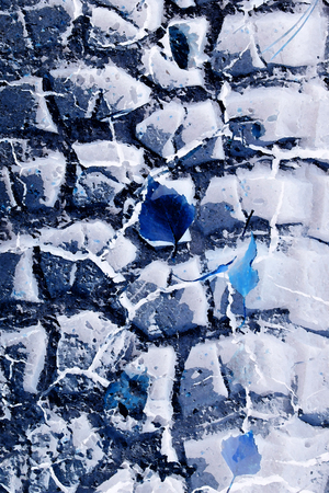 inprint: Abstract blue trace