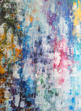 Abstract acrylic painting Stock Photo
