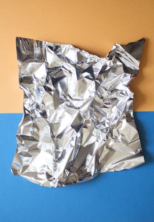 Crumpled sheet of foil