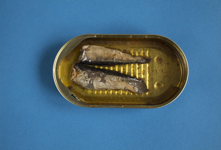 sprats in a tin Stock Photo