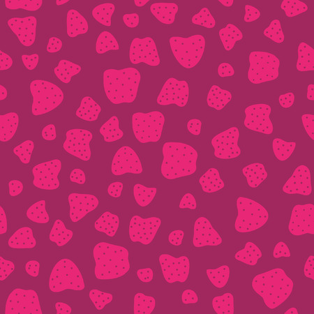 Pink red Seamless Pattern with Strawberries Vector