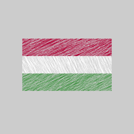 magyar: Hungary Flag. Scratched texture.