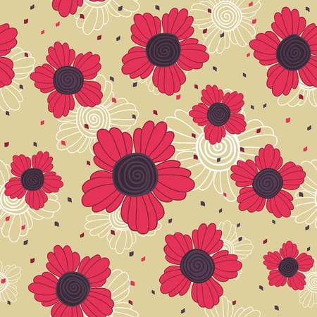 fantastic: Simple floral illustration with fantastic swirl flowers.