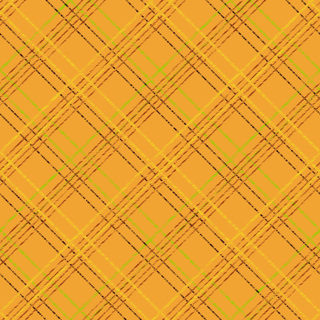 Simple checkered template. Plain tartan background for decoration or backdrop. Brush strokes. Pattern fills. Abstract backdrop. Endless vector. Fabric with scratch lines. Vettoriali