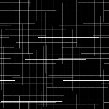 repetition: Monochrome seamless pattern. Diagonal random lines. Abstract texture. Black and white. Plaid. Endless repetition. For wallpaper or printing on fabric. Plain texture for decoration or backdrop. Illustration