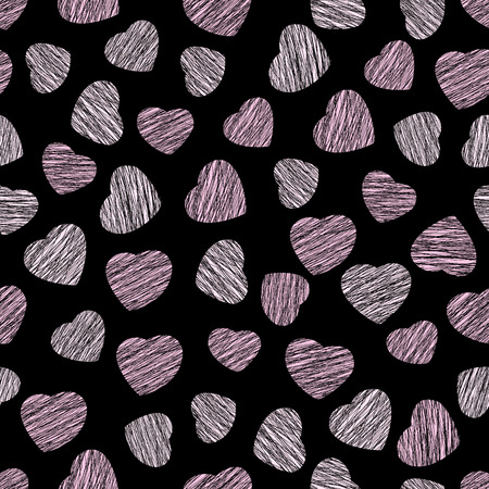 endless: Abstract heart texture, endless Valentine Day. Illustration