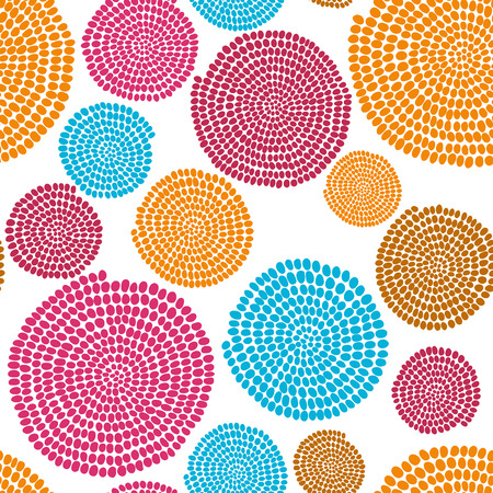 Hand drawn Traditional  African Ornament. Stylized texture with arcs and circles. Plain colorful  background for decoration or backdrop. Ilustrace