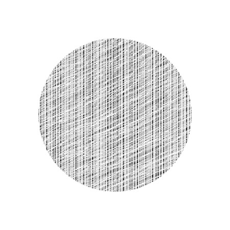 Abstract graphic element. Scratched line circle.