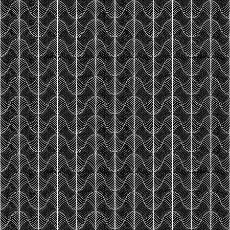 fil: Abstract pattern based on a Traditional African Ornament. Monochrome. Seamless vector pattern. Stylized papyrus leaves. Black and White background for decoration or backdrop. Simple pattern for wallpaper, web page background, surface textures. Pattern fil