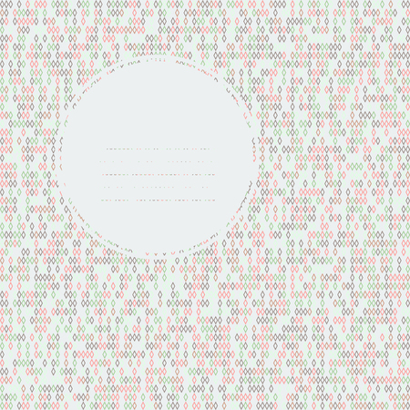 Colorful text frame. Seamless texture with rhombes. Delicate pale colors. Endless. Beads texture. Random colors. Can be used as seamless pattern. Outline backdrop for decoration or pattern fills.