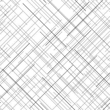 Black and white abstract backdrop. Plaid Fabric texture. Random lines. Seamless pattern. Abstract texture. Monochrome. Plain texture for wallpaper or printing on fabric. For decoration or backdrop.