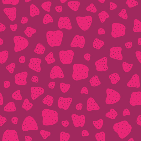 deep pink: Pink red Seamless Pattern with Strawberries. Sweet magenta background for decoration or wrapping. Shadeless ornament.