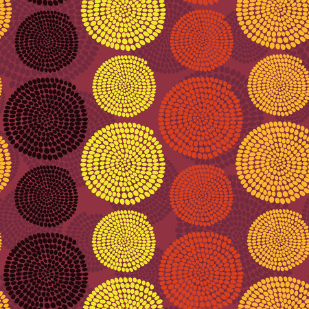 Hand drawn Traditional  African Ornament. Stylized texture with arcs and circles. Warm background for decoration or backdrop.